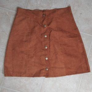 Dresses & Skirts - Khaki Suede Skirt